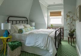 glamorous bolster pillow in bedroom traditional with foo dogs next to cottage dormer alongside guest suite and green carpet