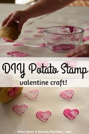 diy potato stamp how to make your own stamp