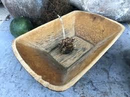wood bread bowl antique wooden dough decorative