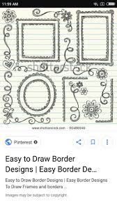Easy Frame Design Drawing How To Draw A Simple Border Design Brainly In