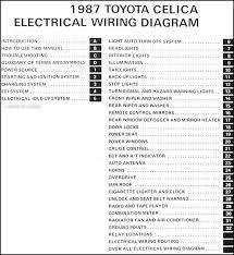 toyota celica wiring diagram automotive wiring diagrams