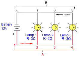 wire lights in series parallel wiring diagram for recessed lights Series Parallel Wiring Diagram parallel wiring diagram in a parallel circuit diagram, or schematic each individual path through lamp series parallel speaker wiring diagram