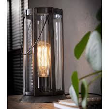 Tafellamp Lantaarn Rond Metaal Id Wonen