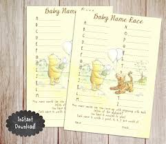 Printable Baby Shower Party Supplies  Print It BabyBaby Name Games For Baby Shower
