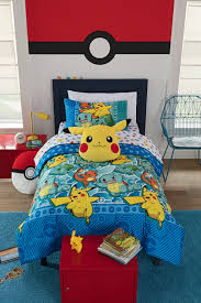 your little one will look forward to bedtime every night with the pokemon first starters twin bed in a bag set this package is made for the