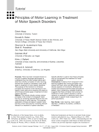 pdf principles of motor learning in treatment of motor sch disorders