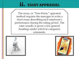essay method performance appraisal narrative essay method performance appraisal