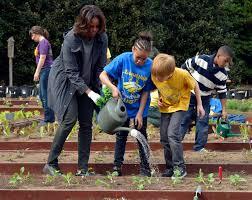 Michelle Obama Kitchen Garden Washington First Lady Plants White House Garden For Spring