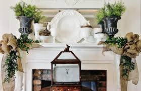 porcelain centerpiece and fresh natural spring flowers fantastic easter fireplace mantle decorating ideas