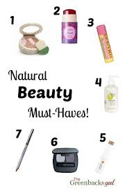 natural beauty must haves