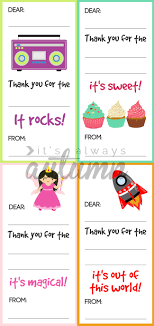 Blank Thank You Notes Fill In The Blank Thank You Note Printables For Kids Its