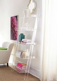 clear furniture. Acrylic Leaning Bookshelf - So Chic! Clear Furniture