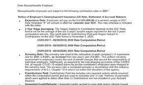 Use this rate to calculate line #4 on the quarterly combined withholding; Some Massachusetts Employers Still Face Major Tax Increases Due To Covid Related Unemployment Claims Masslive Com