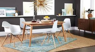 long wood dining room table mid century appeal satisfy your ap for sleek iconic style with