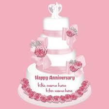 Happy Anniversary Cake With Name Writenamepics Medium