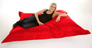 extra large giant beanbag in red  xxxl xcm  indoor