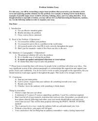 problem solution essays examples and essay about inside format   cover letter example of problem and solution essay a throughout