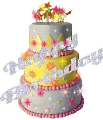 Happy Birthday With Cake Glitters Images Page 5