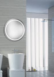 mirror with integrated lighting. Elegant Lighting MRE-6005 Element Modern Glossy White LED 30\u0026nbsp; Round Mirror With Integrated