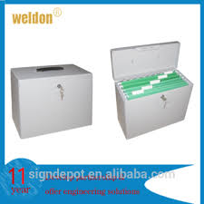 Document Boxes Decorative Office File Boxes WELDON Portable Decorative Steel File Storage 46