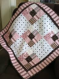 Best 25+ Girls quilts ideas on Pinterest | Baby quilts, Baby girl ... & Baby girl quilt in pink and brown cotton flannel. Etsy post - no directions… Adamdwight.com