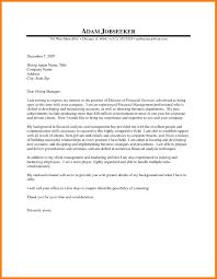 9 Cover Letter Finance Letter Setup