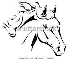 tribal horse head clip art. Plain Art Tribal Horse Head Design Perfect For Logo Or Tattoo Vector In Eps Format Intended Horse Head Clip Art 7