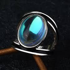 black opal rings for men s female oval moonstone big rings for men women antique