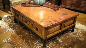 hammered copper coffee table the rustic gallery drum h