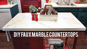 diy faux marble kitchen countertops
