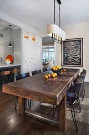 hyde park renovation transitional dining room rustic kitchen tablesrustic