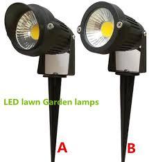 2019 bright 110v 220v 12v 5w cob led lawn lamps light ip65 waterproof landscape outdoor lights garden path pond light warranty from yuancao