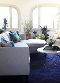 solid blue rug living room