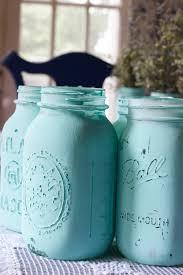 Painted Mason Jars Chalk Painted Canning Jars