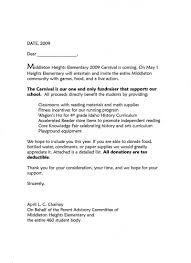 Carnival Donation Request Letter To Create Pinterest