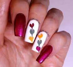 Red And Yellow Nail Designs Red Yellow Green On White Drag Marble Nail Art Design Tutorial