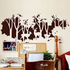 quick overview the forest silhouette wall