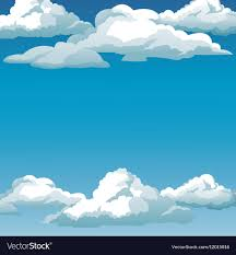 Clouds Design Blue Sky Clouds Background Design Royalty Free Vector Image