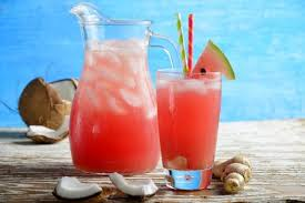 watermelon and coconut water with ginger