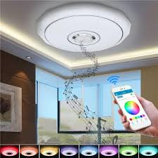 36w rgb smart app control led ceiling lights bluetooth chandelier for home decor party