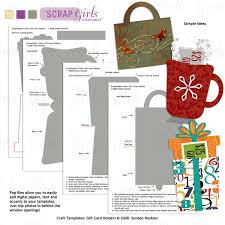 Holiday Gift Card Template Scrapsimple Craft Templates Holiday Gift Card Holders