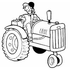 tractor color pages. Interesting Tractor TheFunnyFarmerOnTractorcolor Throughout Tractor Color Pages L