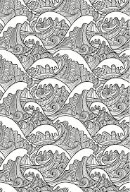 Beautiful Waves Colouring Page In An