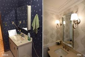 powder room lighting. A Powder Room Makeover \u2013 See The Dazzling Before And After Transformation Lighting