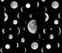 Moon Pattern Inspiration Moon Phases Fabric Onelittleprintshop Spoonflower