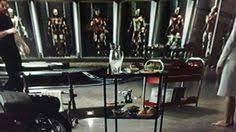 Tony Starks basement office in Iron Man 3 Studio Pinterest