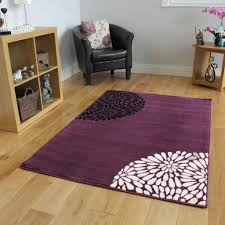 Living Room Rugs On Small Large Purple Aubergine Modern Rugs Quality Soft Floral
