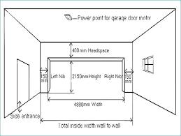 double garage door dimensions two car typical standard width nz