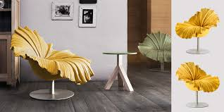 nature inspired furniture. inspired by a delicate blossom the bloom is composed of hundreds fine running stitches that radiate from center seat nature furniture