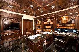 Image Reception Dark Wood Office Precision Installation Office Designs From Around The World Precision Installation